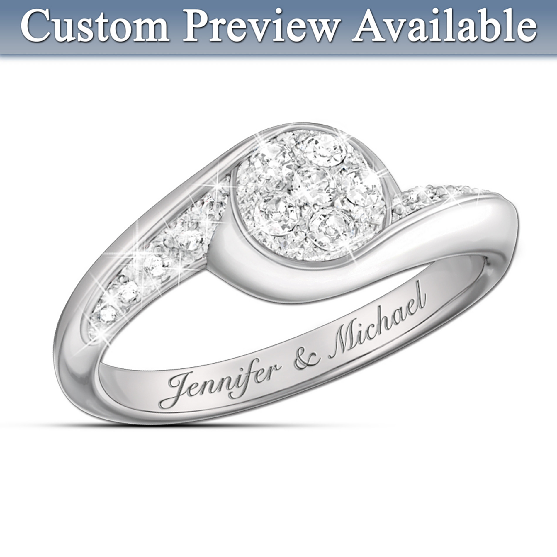 The Bradford Exchange Celebration Of Love Personalized Diamond Ring at Sears.com