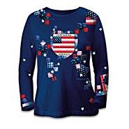 The Bradford Exchange American Pride Patriotic Patchwork Women's Long-Sleeved Shirt at Sears.com