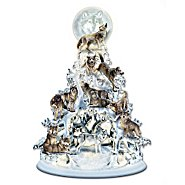 "The Bradford Exchange ""The Legend Of The White Wolf"" Sculpted And Illuminated Tabletop Tree at Sears.com"