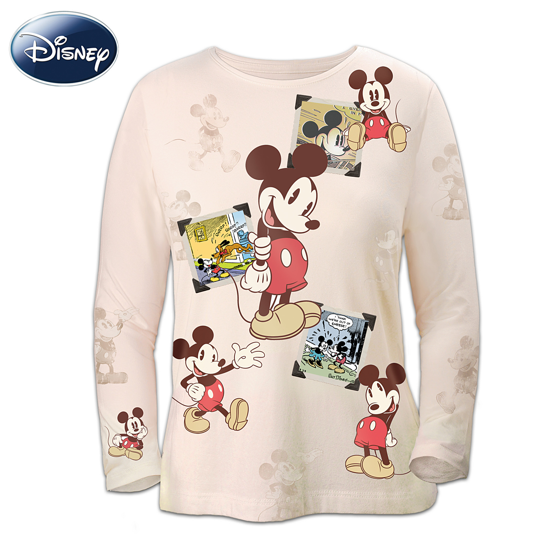 The Bradford Exchange Disney Retro Mickey Mouse Sepia-Toned Women's Shirt at Sears.com