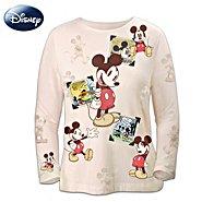 The Bradford Exchange Disney Retro Mickey Mouse Sepia-Toned Women's Shirt at Sears.com