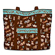 The Bradford Exchange The Kitten Capers Quilted Tote Bag With Matching Cosmetic Cases at Sears.com