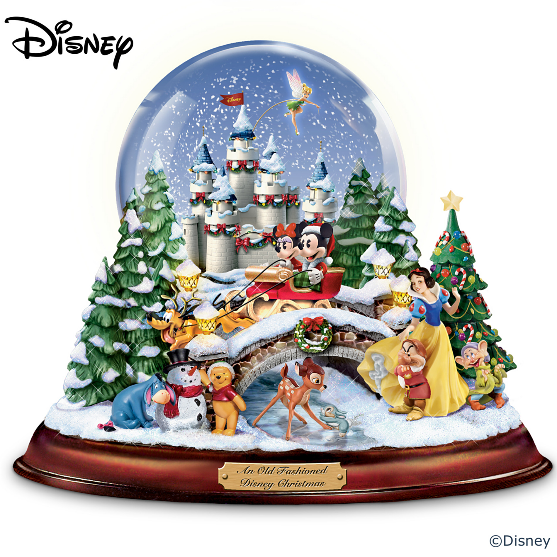 "The Bradford Exchange ""An Old Fashioned Disney Christmas"" Musical Snowglobe Showcasing 13 Classic Characters at Sears.com"