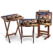 The Bradford Exchange The John Wayne Tray Table Set: Includes A Free Storage Stand at Sears.com