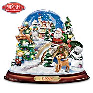 The Bradford Exchange Rudolph The Red-Nosed Reindeer Illuminated And Musical Snowglobe at Sears.com