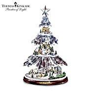 "The Bradford Exchange Thomas Kinkade ""Season's Splendor"" Illuminated Icicle Tabletop Tree at Sears.com"
