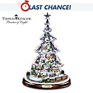 The Bradford Exchange Thomas Kinkade Let It Snow Animated And Musical Tabletop Tree at Sears.com
