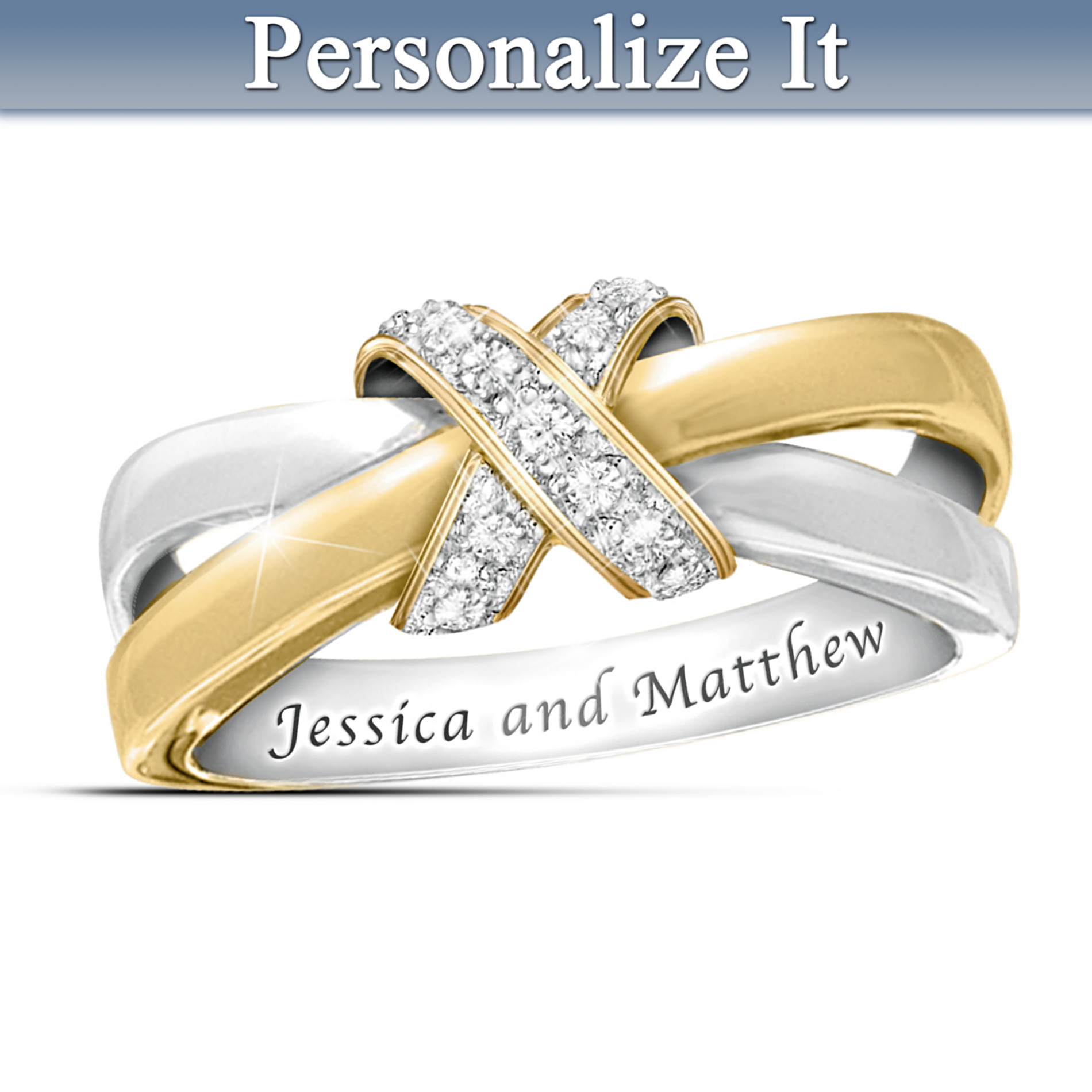 The Bradford Exchange Eternity's Kiss Diamond Personalized Women's Ring at Sears.com
