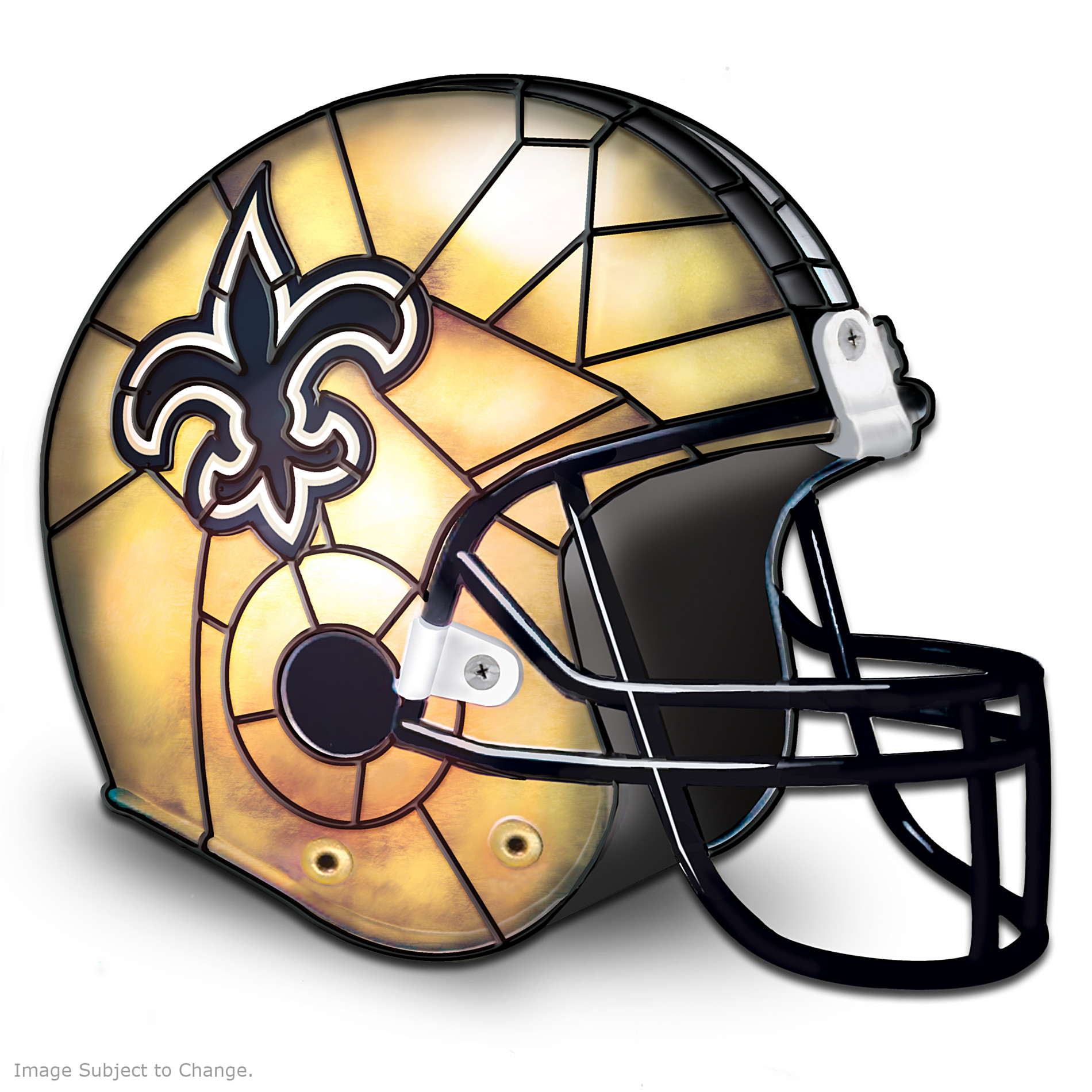 The Bradford Exchange The New Orleans Saints Louis Comfort Tiffany-Style Accent Lamp at Sears.com