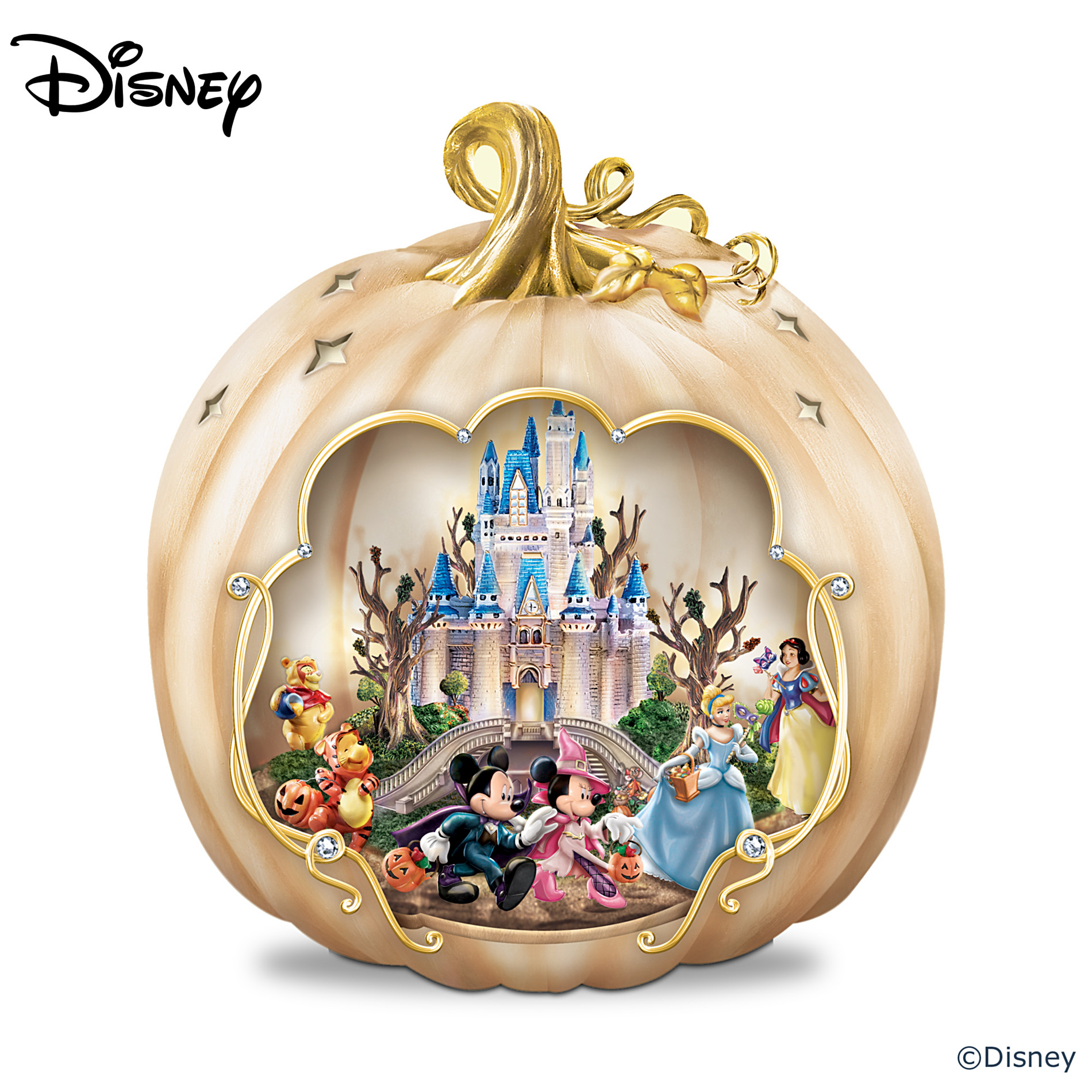 The Bradford Exchange Disney's Spook-tacular: Halloween-Themed Pumpkin Tabletop Centerpiece at Sears.com
