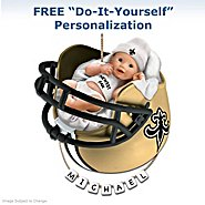 The Bradford Exchange New Orleans Saints Personalized Baby's First Christmas Ornament at Sears.com
