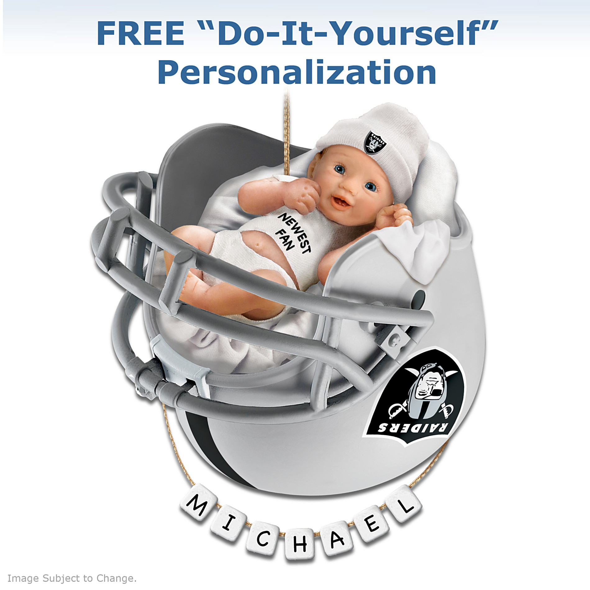 The Bradford Exchange Oakland Raiders Personalized Baby's First Christmas Ornament at Sears.com