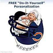 The Bradford Exchange Chicago Bears Personalized Baby's First Christmas Ornament at Sears.com
