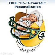 The Bradford Exchange Green Bay Packers Personalized Baby's First Christmas Ornament at Sears.com