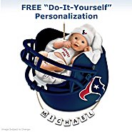 The Bradford Exchange Houston Texans Personalized Baby's First Christmas Ornament at Sears.com