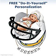 The Bradford Exchange San Diego Chargers Personalized Baby's First Christmas Ornament at Sears.com