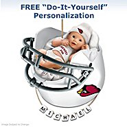 The Bradford Exchange Arizona Cardinals Personalized Baby's First Christmas Ornament at Sears.com