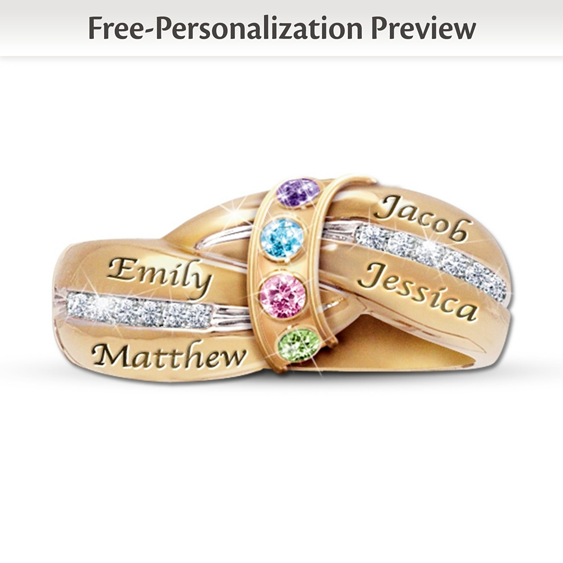 The Bradford Exchange A Mother's Embrace Personalized Birthstone Ring at Sears.com