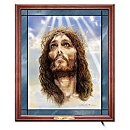 "The Bradford Exchange ""Live In The Light Of The Lord"" Stained Glass Jesus Art Wall Decor at Sears.com"
