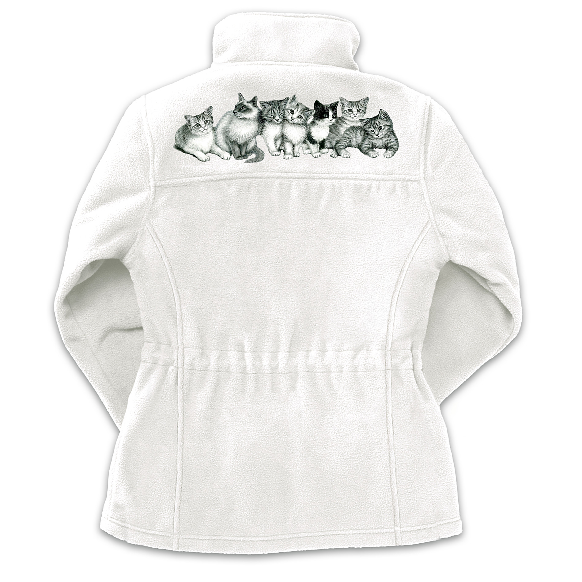 "The Bradford Exchange ""Purr-fect Playmates"" Reversible Women's Fleece Jacket at Sears.com"