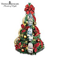 "The Bradford Exchange ""Thomas Kinkade Merry Miniature"" 2-Ft Pre-Lit Pull-Up Christmas Tree at Sears.com"