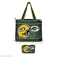 The Bradford Exchange Green Bay Packers Quilted Carryall Tote Bag at Sears.com