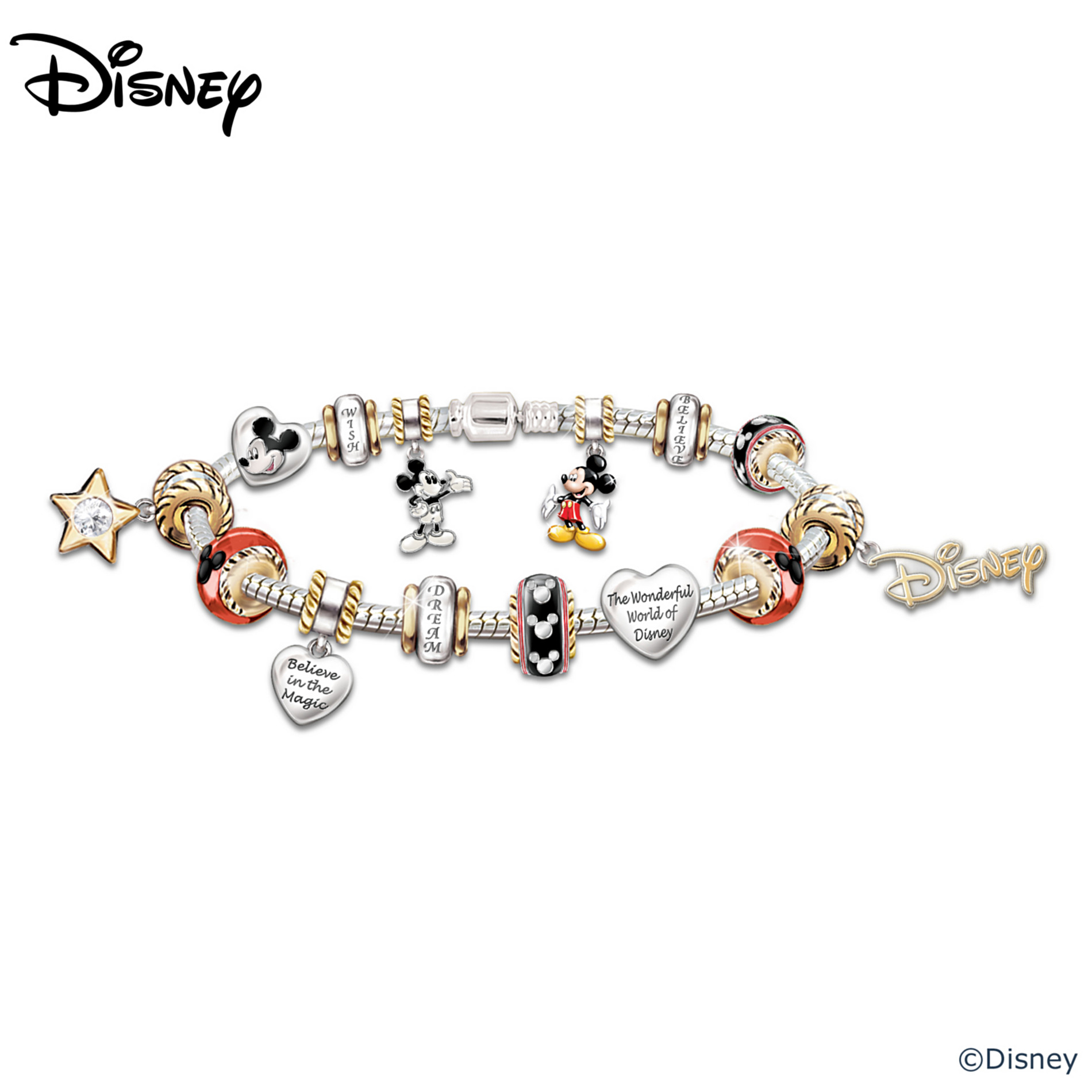 The Bradford Exchange Walt Disney 110th Anniversary Celebration: Mickey Mouse Charm Bracelet at Sears.com