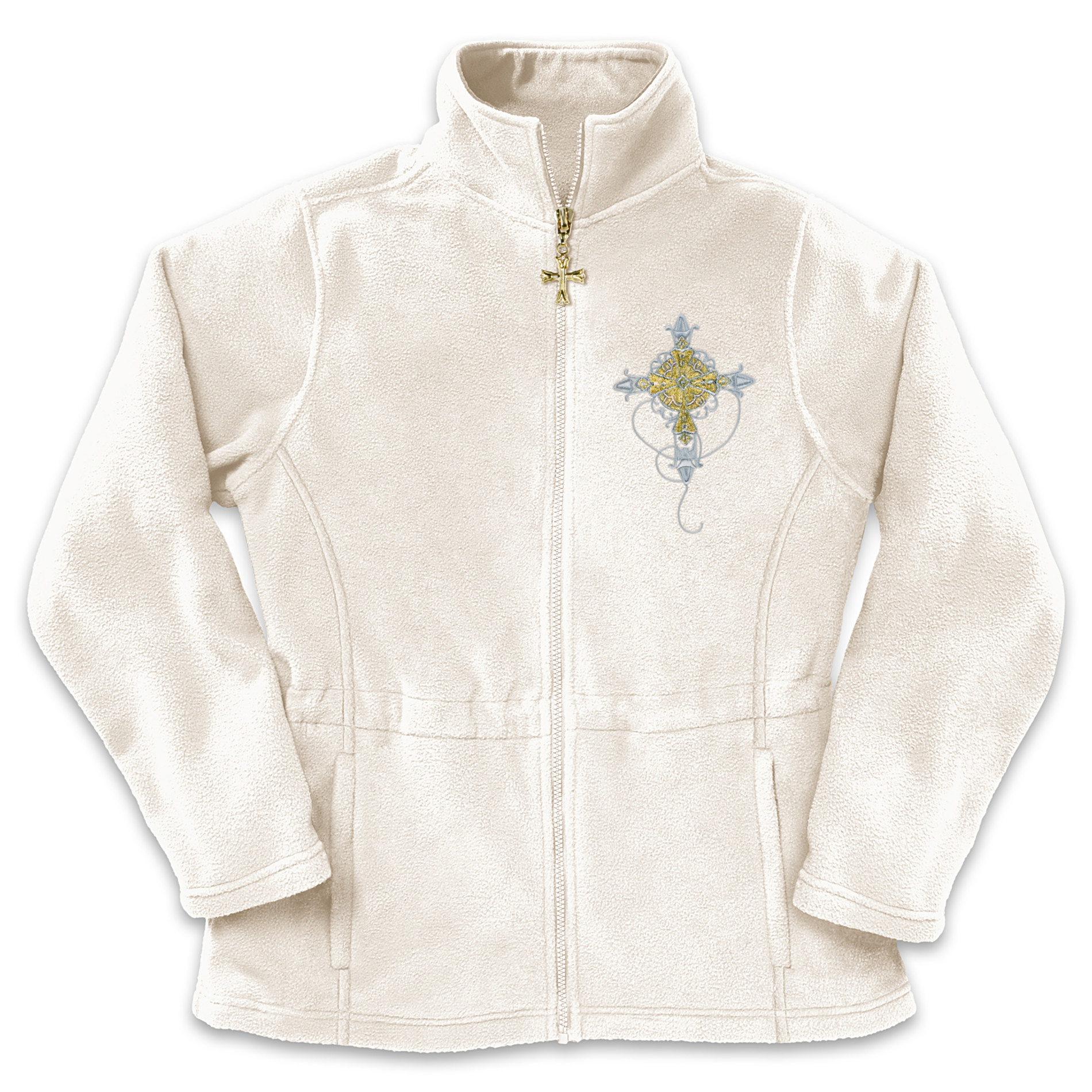"The Bradford Exchange ""Reflections Of Faith"" Women's Fleece Jacket at Sears.com"