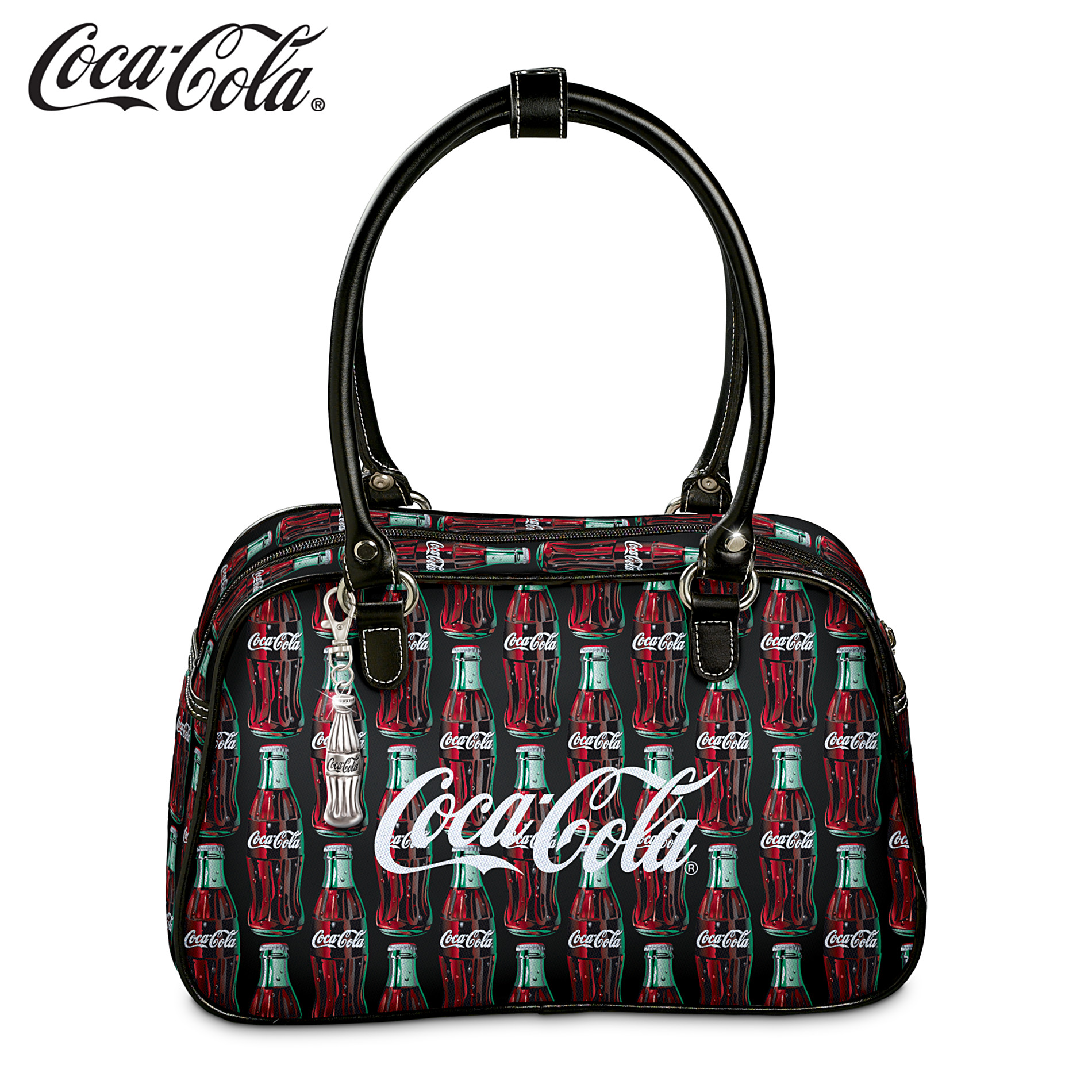 The Bradford Exchange Coca-Cola Purse With Classic Vintage Green-Glass Coke Bottle Art at Sears.com