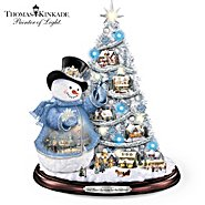 The Bradford Exchange Thomas Kinkade Snowman Pre-Lit Christmas Tree: Sno' Place Like Home For The Holidays at Sears.com