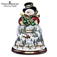 The Bradford Exchange Thomas Kinkade Wondrous Winter Musical Snowman Snowglobe at Sears.com