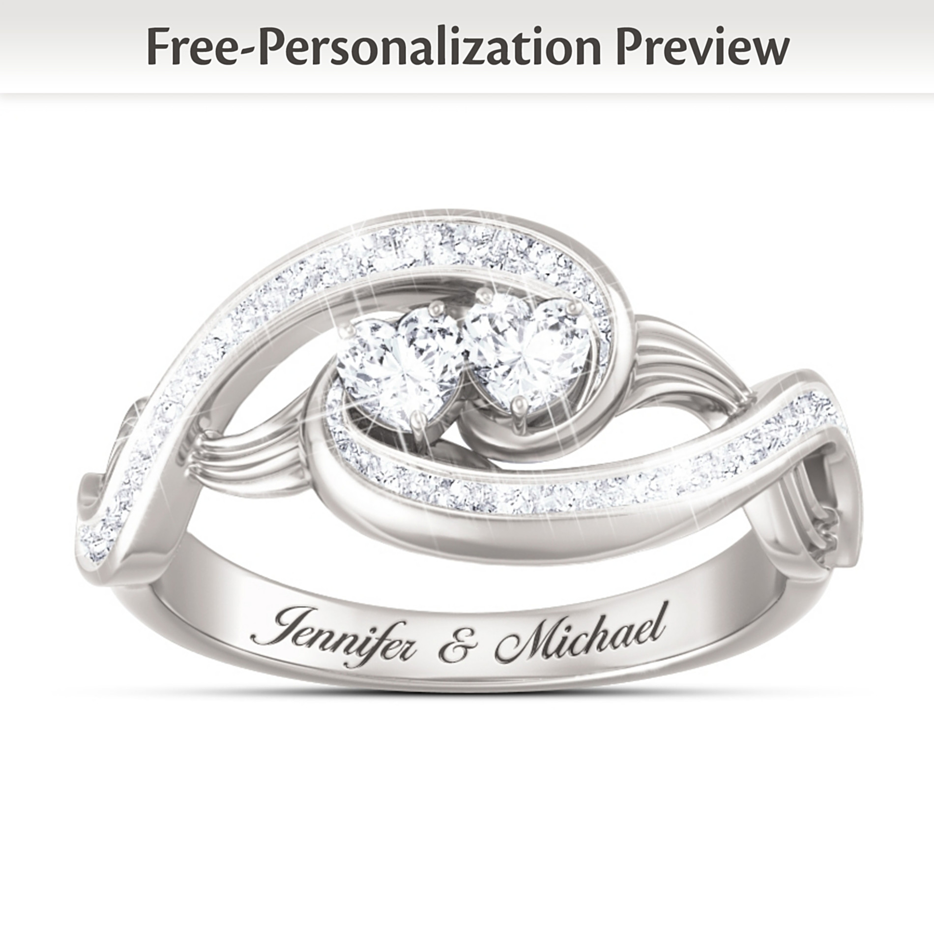 "The Bradford Exchange ""Always Together In Love"" Topaz Personalized Ring at Sears.com"