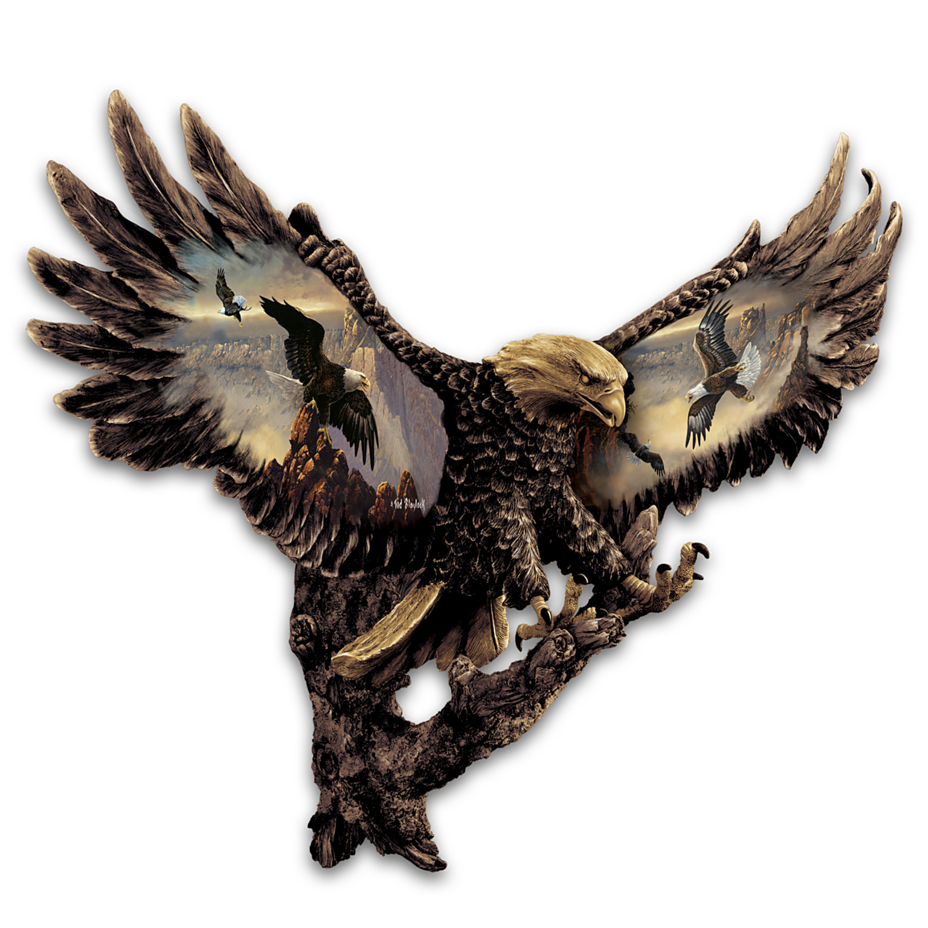 The Bradford Exchange Cold-Cast Bronze Bald Eagle Wall Sculpture: Gleaming Majesty at Sears.com