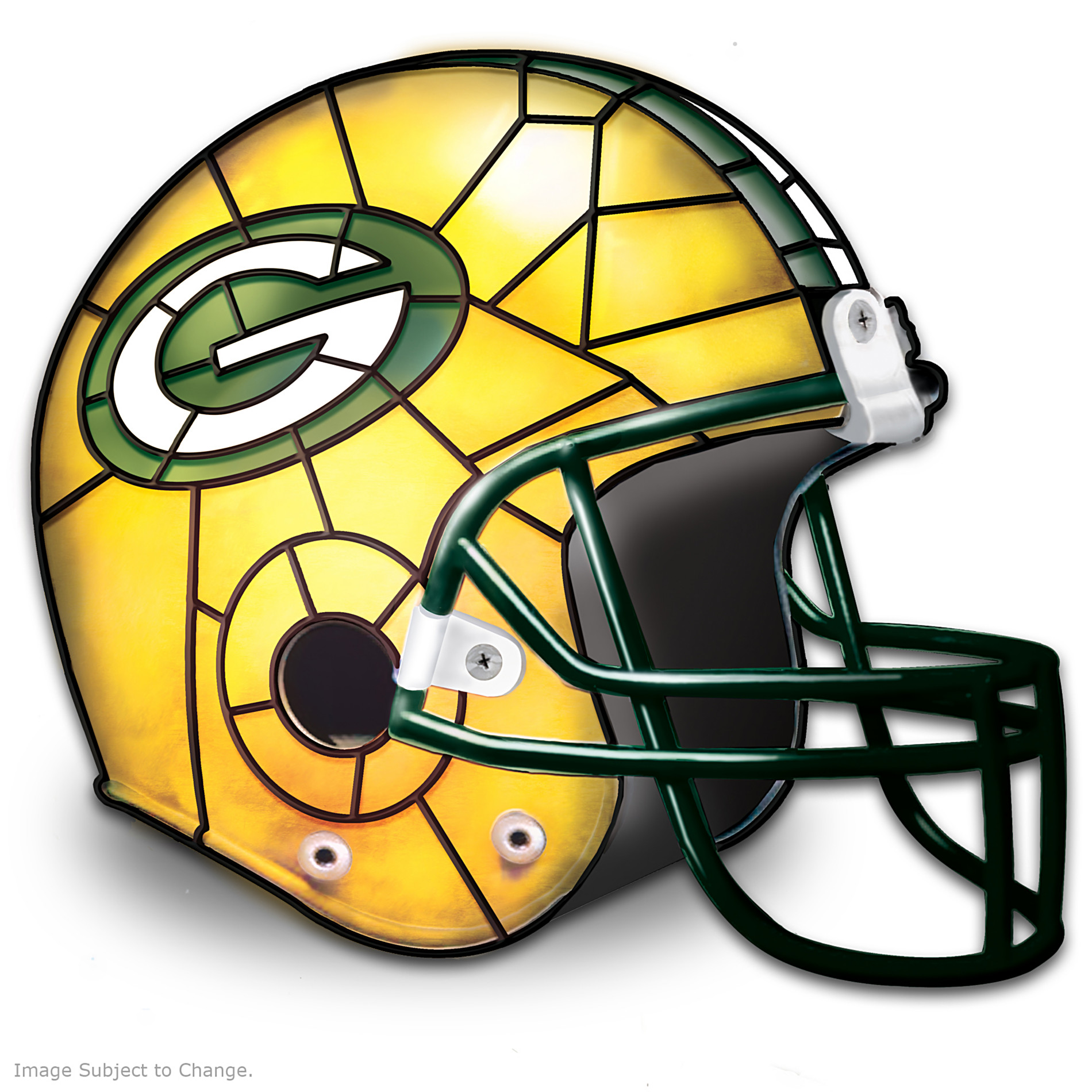 The Bradford Exchange The Green Bay Packers Louis Comfort Tiffany-Style Accent Lamp at Sears.com