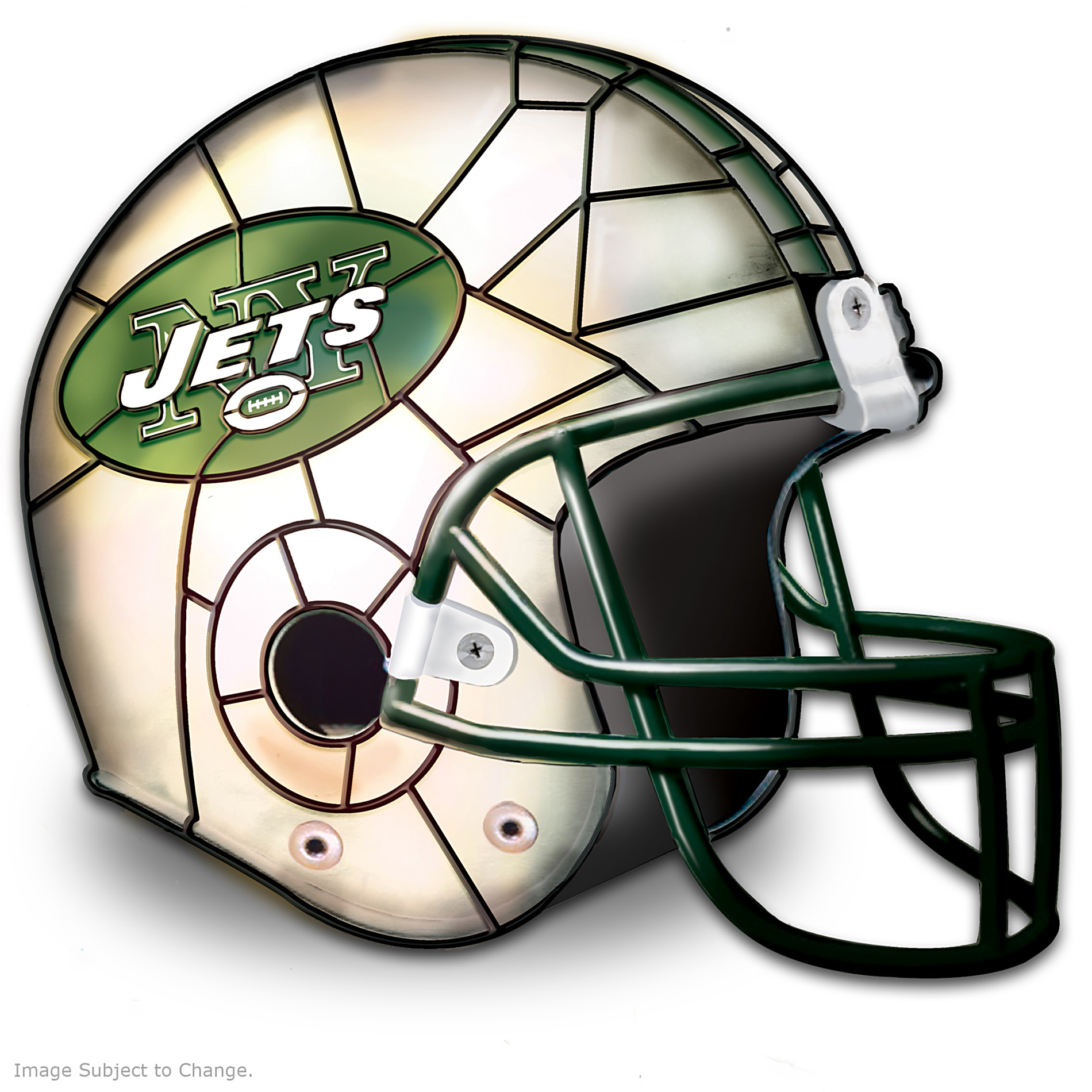 The Bradford Exchange The New York Jets Louis Comfort Tiffany-Style Accent Lamp at Sears.com