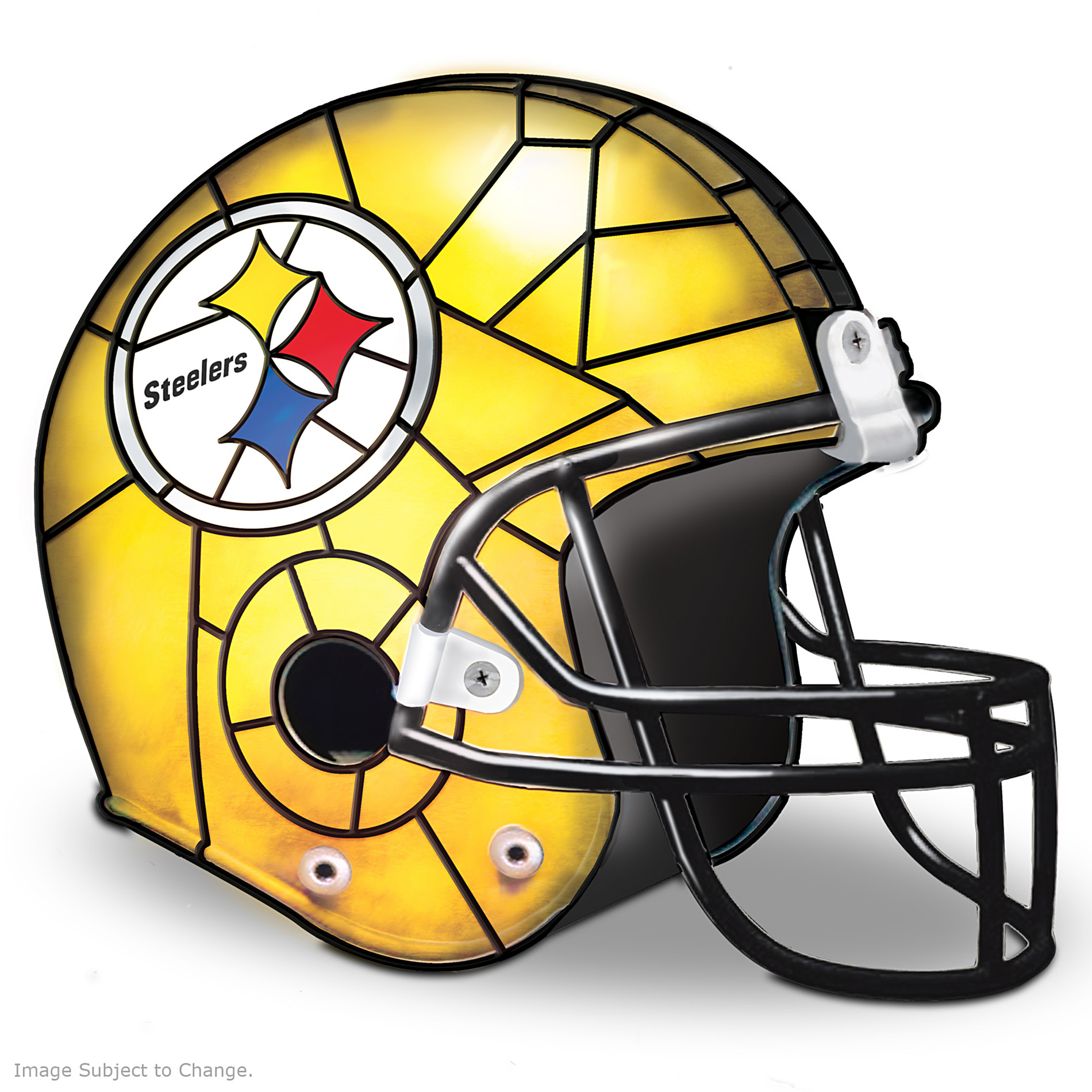 The Bradford Exchange The Pittsburgh Steelers Louis Comfort Tiffany-Style Accent Lamp at Sears.com