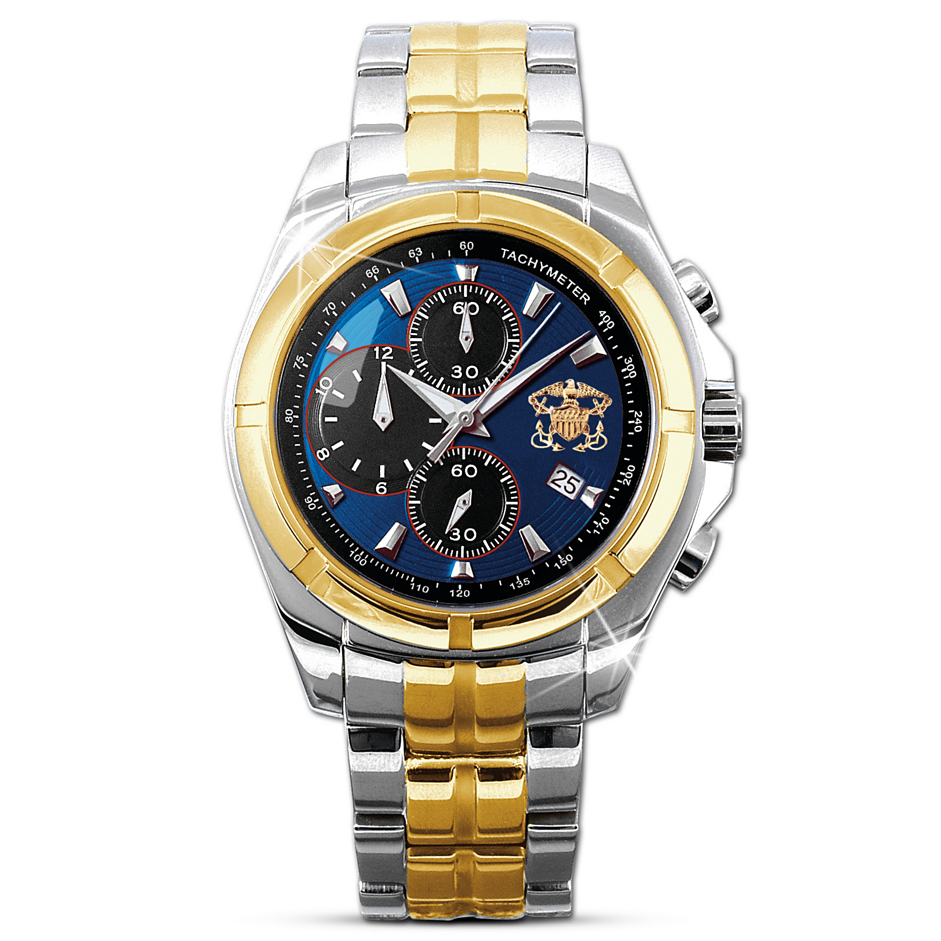 "The Bradford Exchange U.S. Navy ""For My Sailor"" Chronograph Men's Watch at Sears.com"