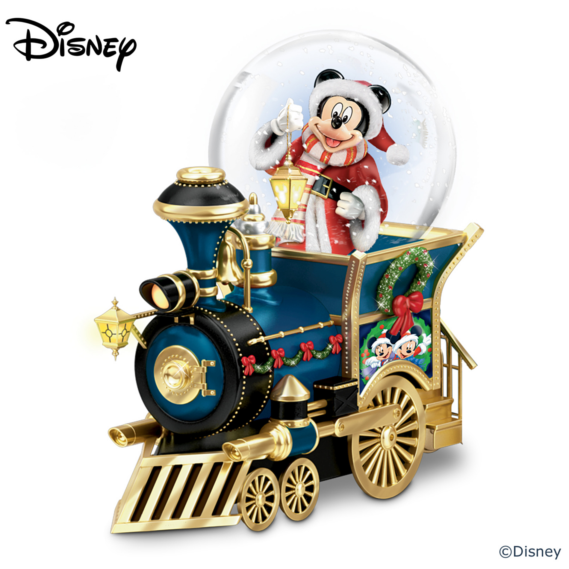 The Bradford Exchange Disney Mickey Mouse Miniature Snowglobe: Santa Mouse Is Comin' To Town at Sears.com
