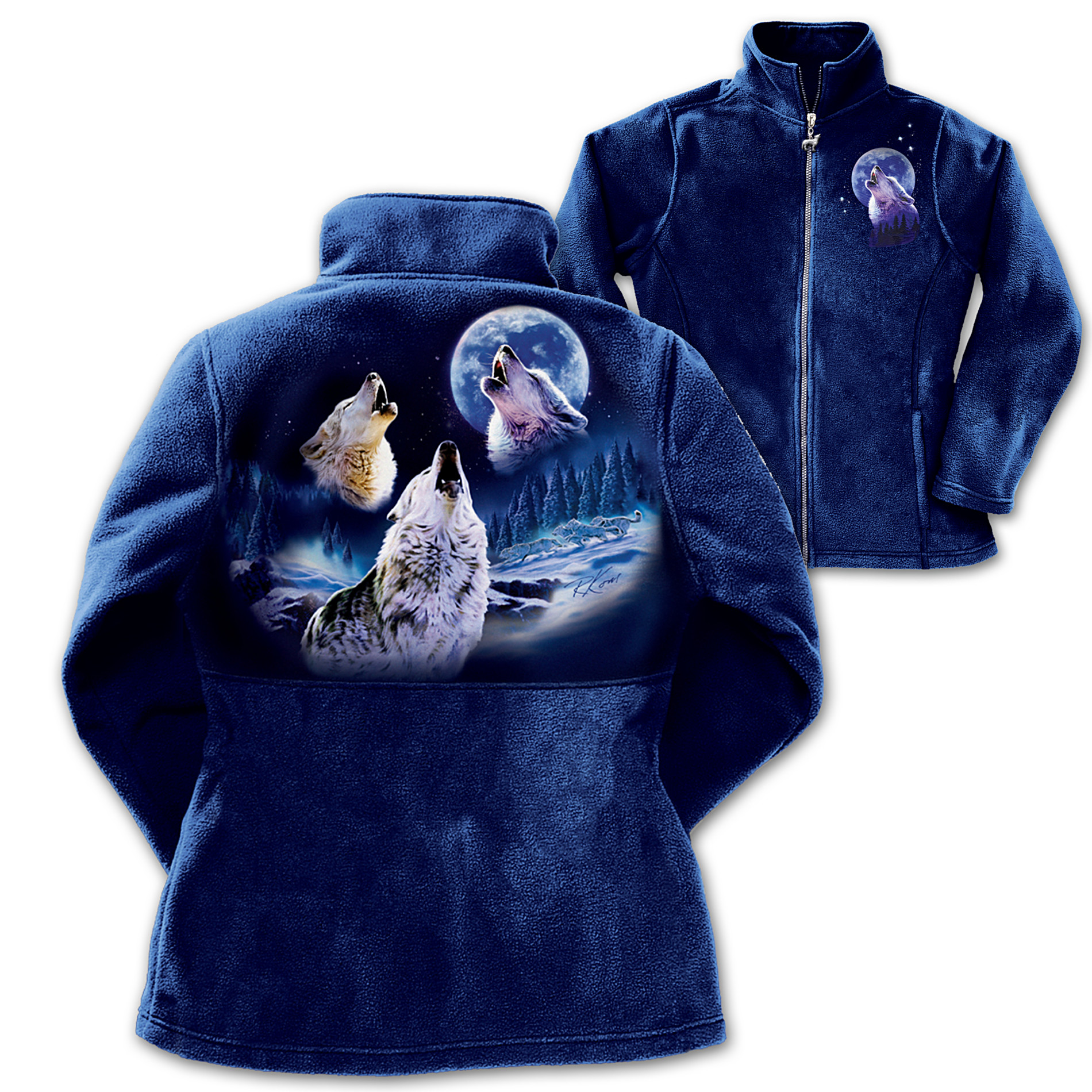 The Bradford Exchange Women's Fleece Jacket: Voices Of Moonlight at Sears.com