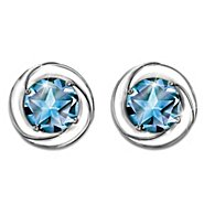 The Bradford Exchange Earrings: Reach For The Stars Sterling Silver And Topaz Earrings at Sears.com