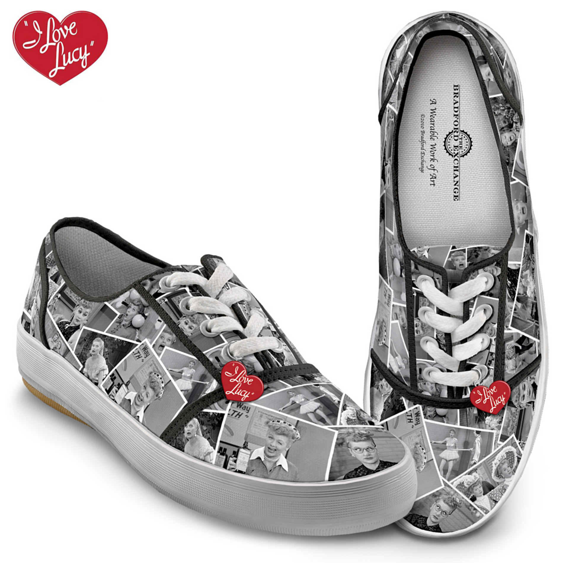 The Bradford Exchange I LOVE LUCY Women's Canvas Shoes at Sears.com