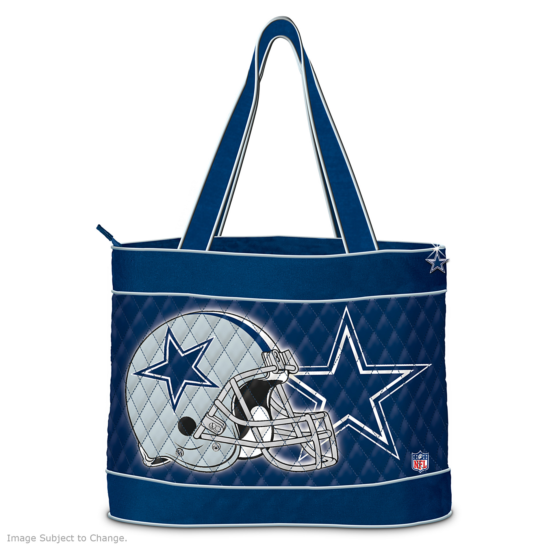 The Bradford Exchange NFL Dallas Cowboys Quilted Tote Bag at Sears.com