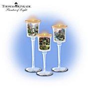 The Bradford Exchange Thomas Kinkade Glass Stem Candleholder Set: Garden Of Elegance at Sears.com