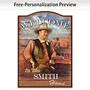 The Bradford Exchange John Wayne Personalized Welcome Sign Wall Decor at Sears.com