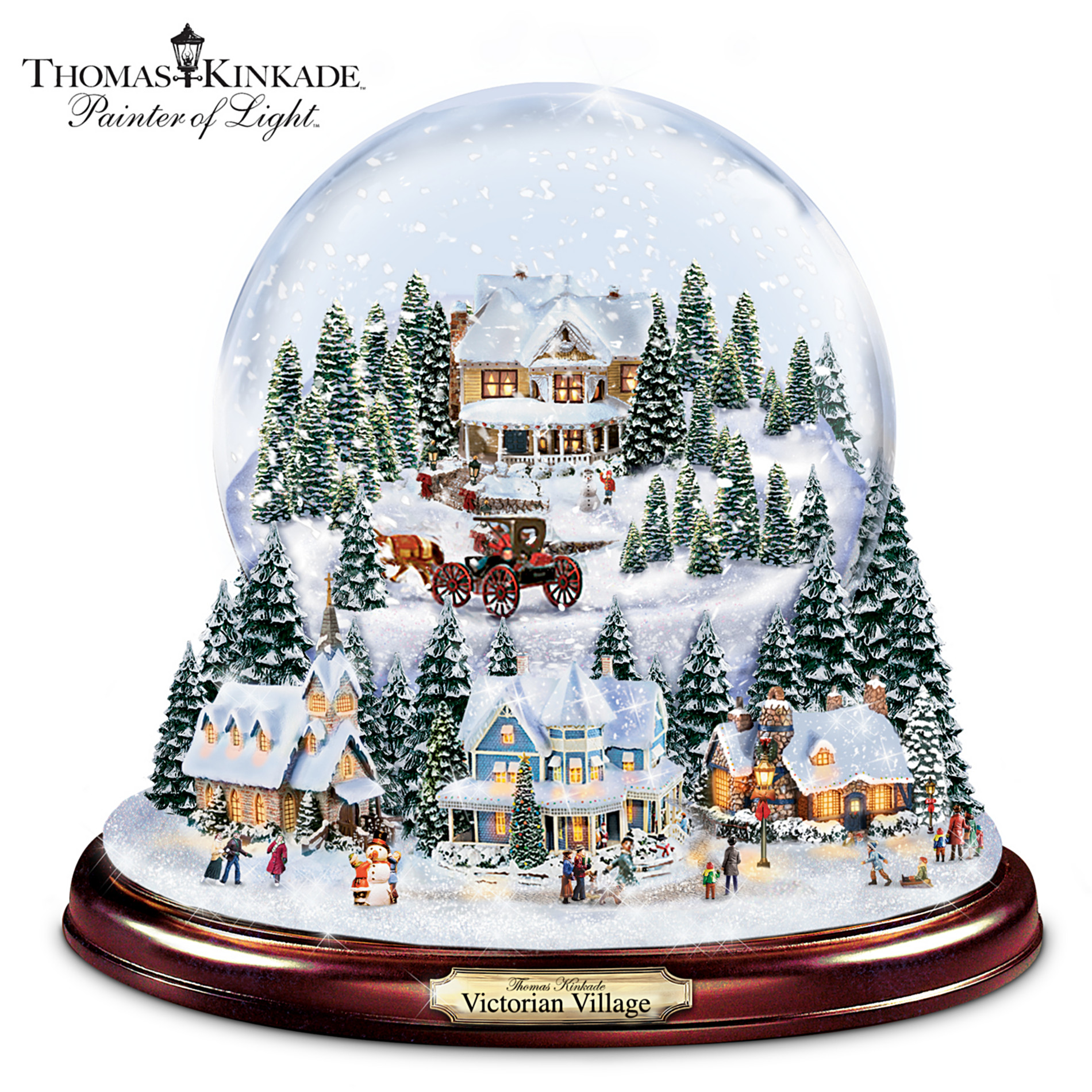 The Bradford Exchange Thomas Kinkade Victorian Christmas Village Snowglobe at Sears.com