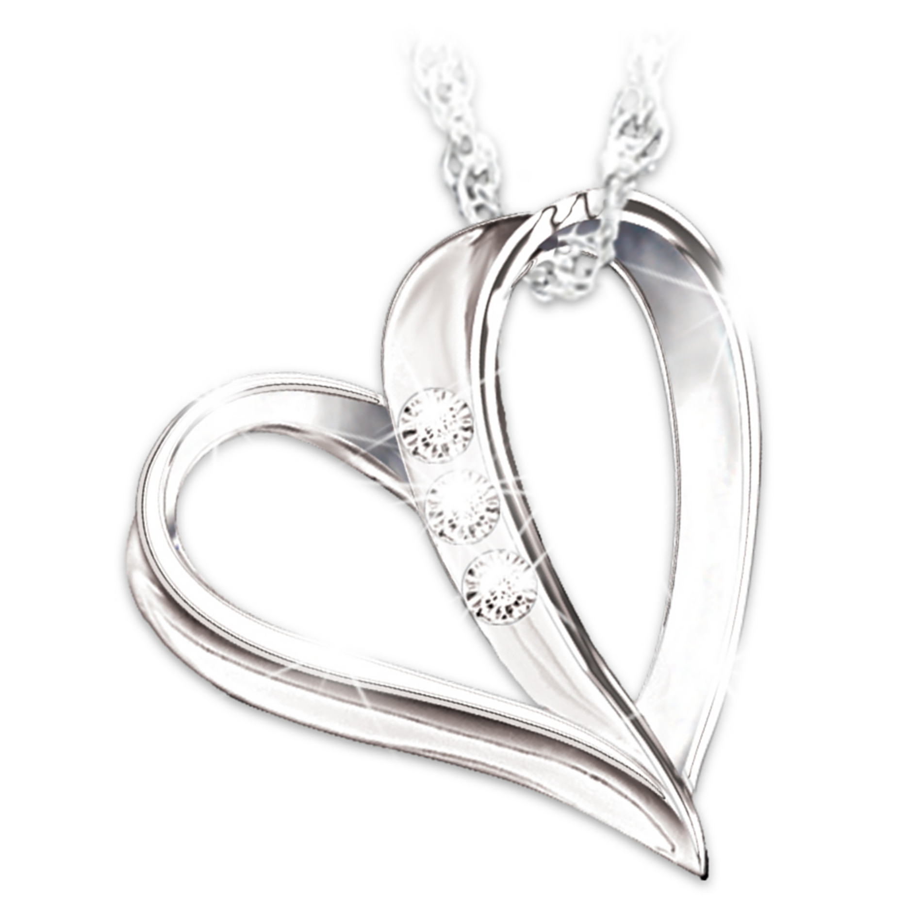 The Bradford Exchange My Granddaughter, My Heart, My Love 3-Diamond Pendant Necklace at Sears.com