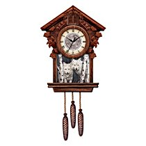 The bradford exchange timeless nobility collectible cuckoo clock with deer art from - Motorcycle cuckoo clock ...
