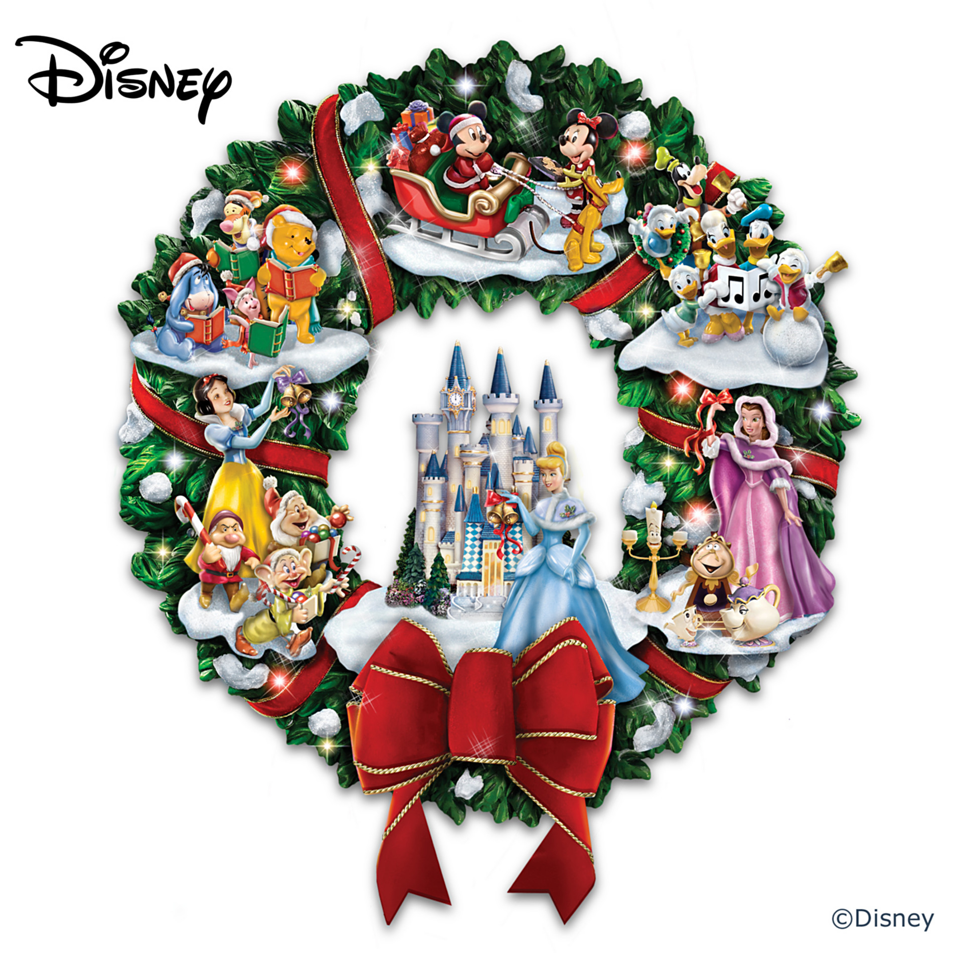 The Bradford Exchange The Wonderful World Of Disney Character Christmas Wreath at Sears.com