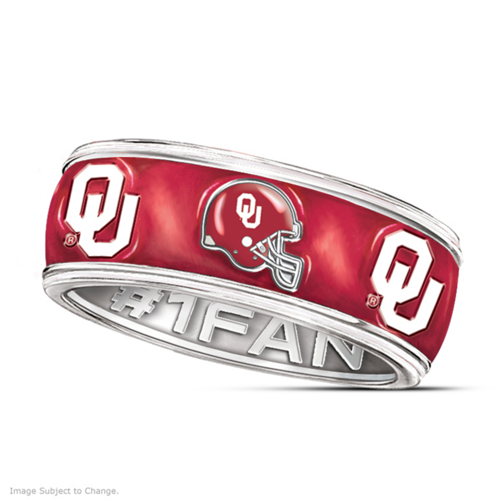 The Bradford Exchange The University Of Oklahoma Sooners #1 Fan Spinning Ring at Sears.com