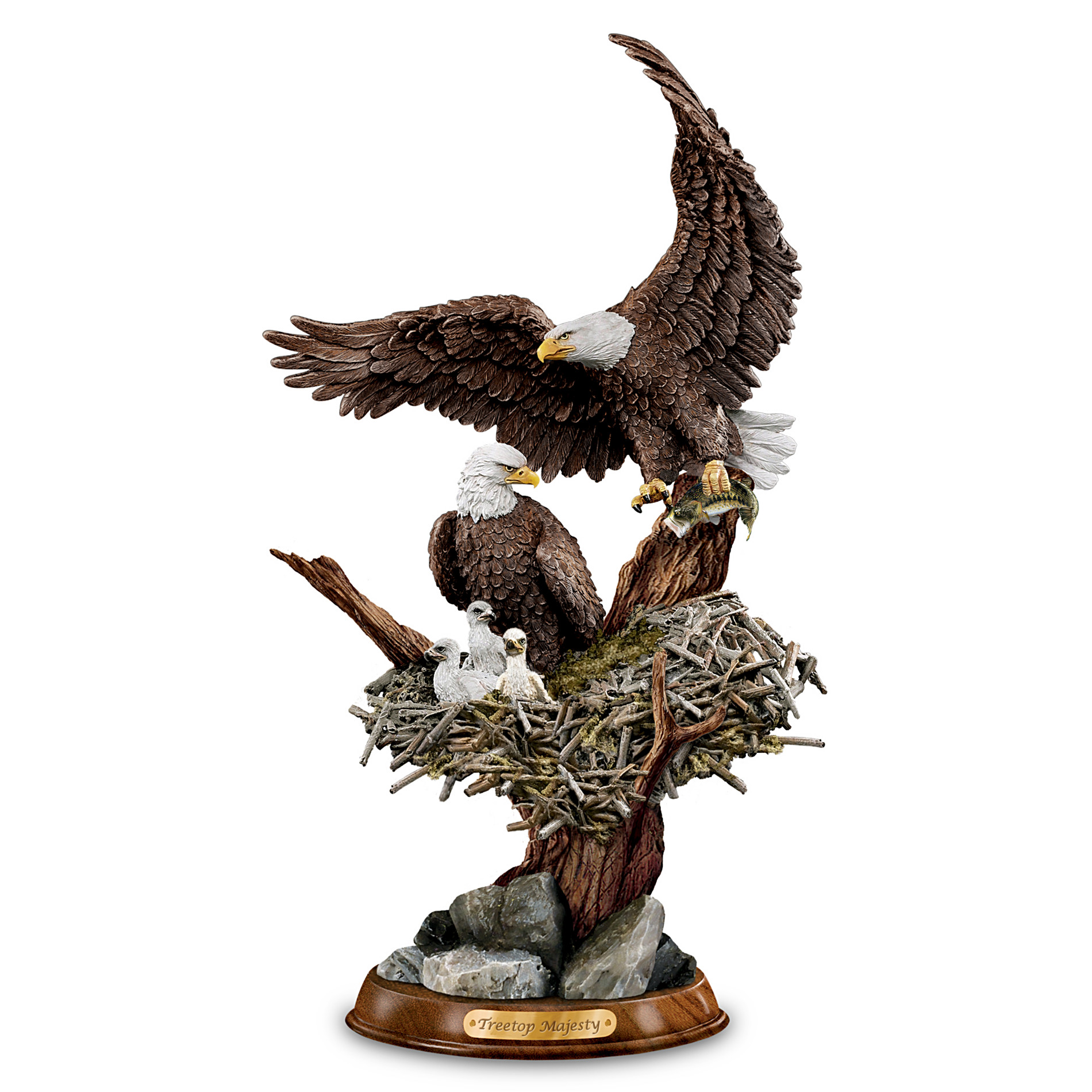 "The Bradford Exchange ""Eagle Cam""-Inspired American Bald Eagle Sculpture: Treetop Majesty at Sears.com"